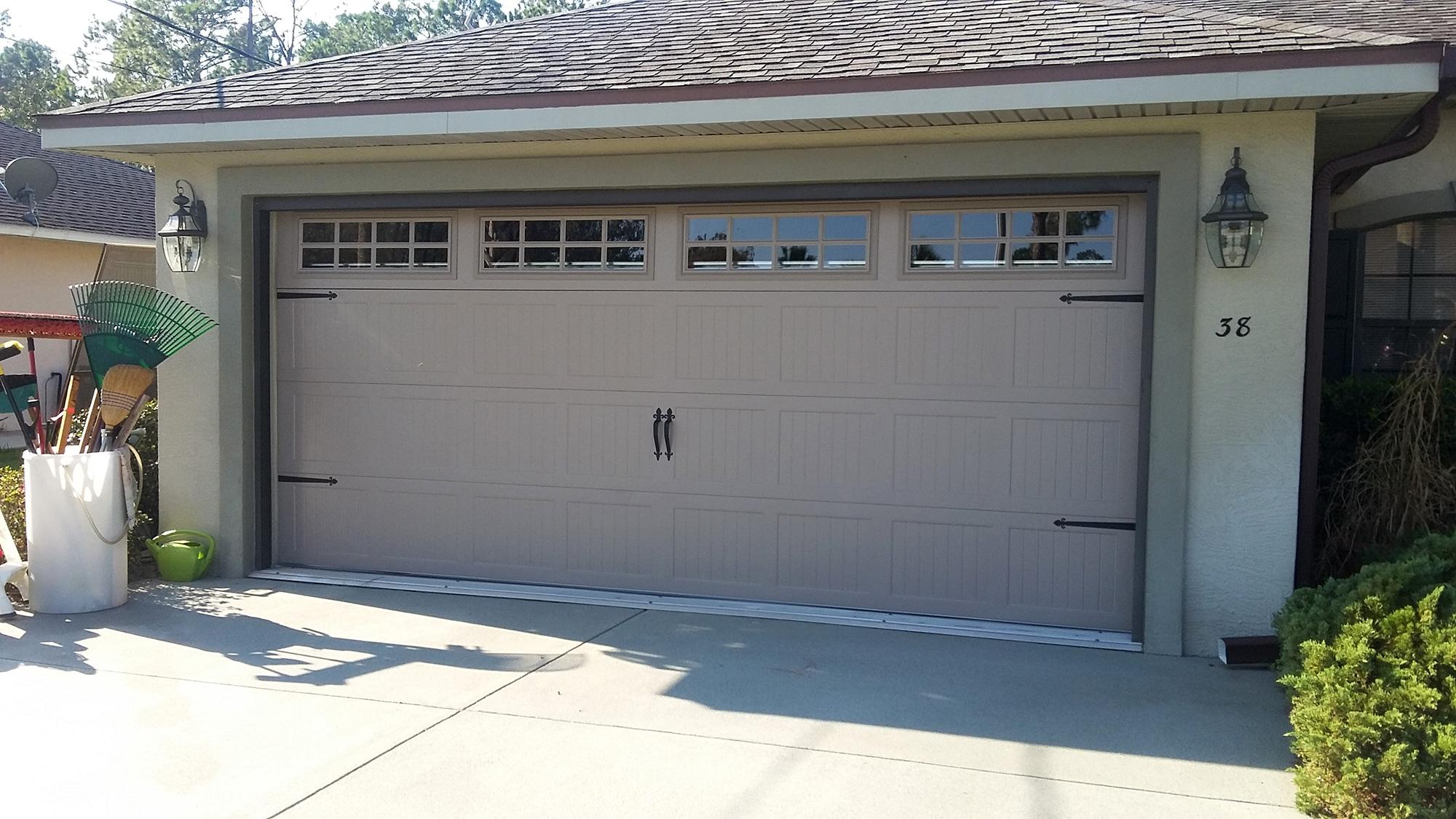 E section abs garage doors for Garage door repairs palm coast fl