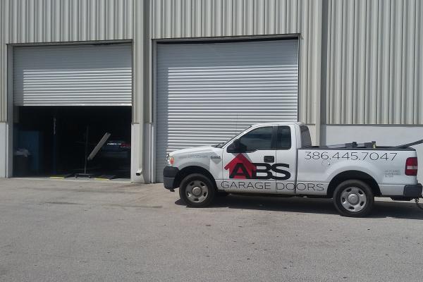 Ribbed Steel Commercial Garage Door