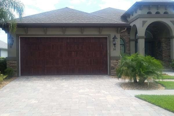Accents Dark Oak Carriage Stamp Garage Door