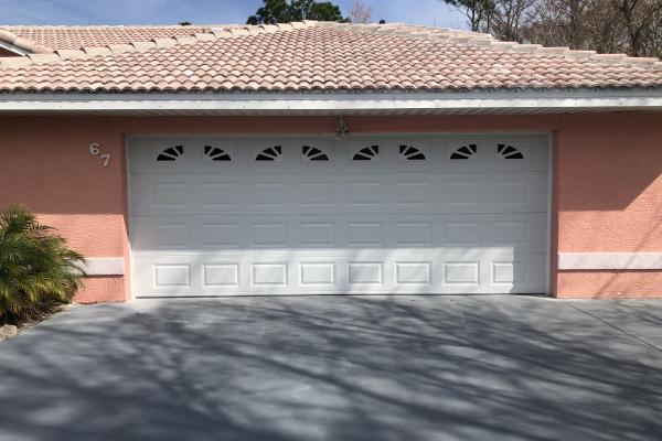 Raised Short Panel a Garage a Door with Sherwood Glass Top Section
