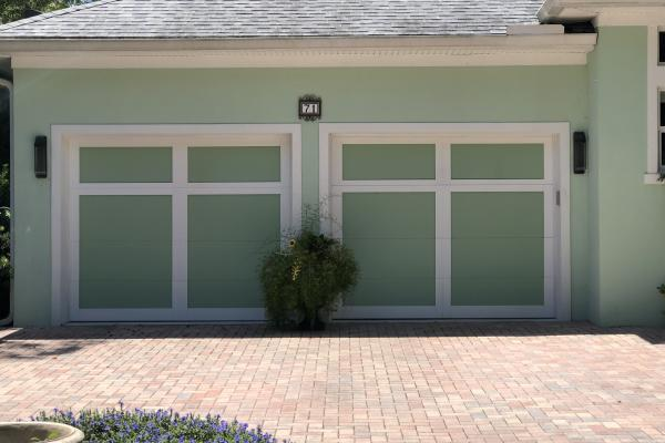 Flush Garage Door Design with Custom Overlay