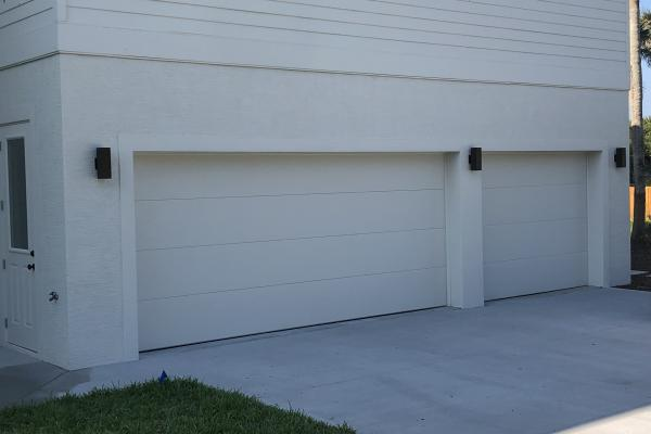 Insulated Garage Doors with Flush Panel Design