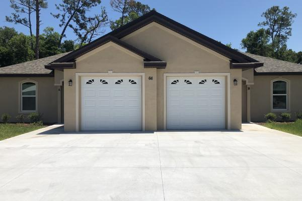 Raised Short Panel Garage Door with Sherwood Glass Top Section
